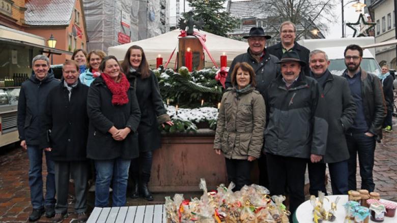 """""""Weihnachtsbrunnen"""" auf dem Marktplatz sorgt für besondere Stimmung"""