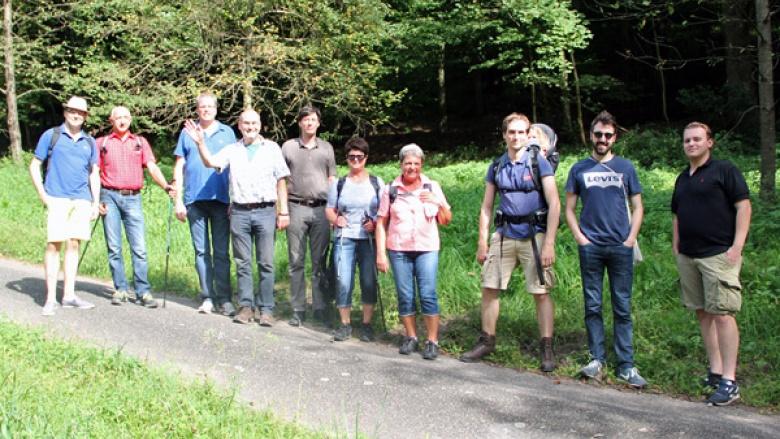 Sommerwanderung mit Dr. Albrecht Schütte MdL Ziegelhausen/Neckargemünd