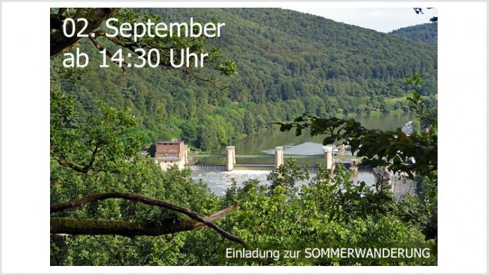 """Herzliche Einladung zur Sommerwanderung: """"Hoch über dem Neckar – von Heidelberg-Ziegelhausen nach Neckargemünd"""""""